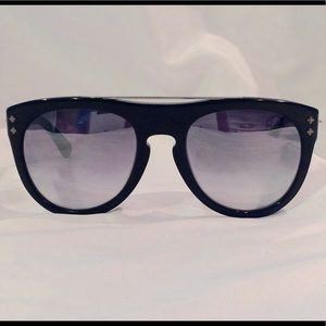 Shamballa Sunglasses Thunderbolt Shiny Black Gray